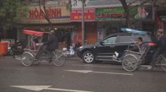 Street traffic in Ho Chi Minh City, North Vietnam Stock Footage