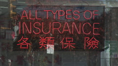 multi ethnicity in business sign, chinese language in Vancouver, BC Canada - stock footage