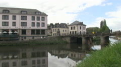 Bridge over the River Oust in Josselin in Brittany France Stock Footage