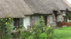 Typical thatched cottages, Adare, Ireland Stock Footage