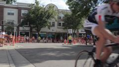 Men's Bike Race Low Angle Stock Footage
