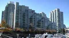 Static Condominum apartment building urban landscape Stock Footage