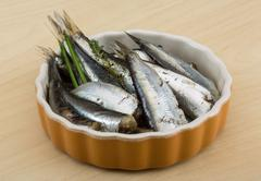Salted anchovy - stock photo
