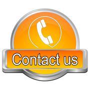 Button contact us Stock Photos