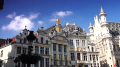 ULTRA HD 4K real time shot,Grand Place in Brussels Stock Footage