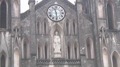 Cathedral in Ho Chi Minh City, North Vietnam Stock Footage