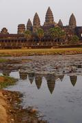 Sunset,  gopura towers of Angkor Wat Stock Photos