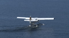 Seaplane take off Vancouver Harbour Stock Footage