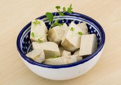 Tofu - soya cheese Stock Photos