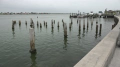 Pilings On Old Pier St Pete Beach Stock Footage
