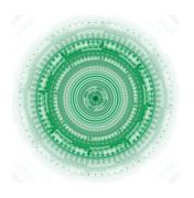 Abstract background technology circles and transparent green color Stock Illustration