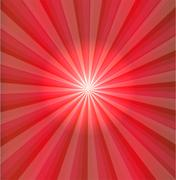 Abstract red light vector - stock illustration