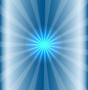 Blue background with lens flare - stock illustration