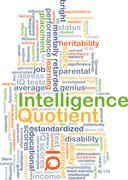 Intelligence quotient IQ background concept - stock illustration