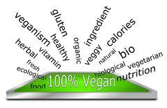 100% vegan wordcloud Stock Photos