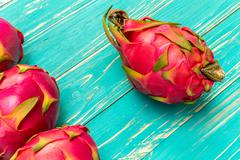 Dragon fruit is exotic tropical fruit from southeast Asia. Stock Photos