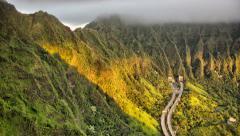 Time lapse dawn, view of sunrise from koolau ko'olau mountain ridge, oahu, hawai Stock Footage