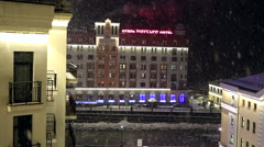 Hotel Mercure by Rosa Khutor Stock Footage