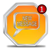 New Message Button Stock Photos