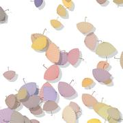 Beautiful pattern with scattered parasols Stock Illustration