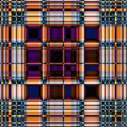 Stock Illustration of Funky contrasting gingham pattern in blue, violet and orange