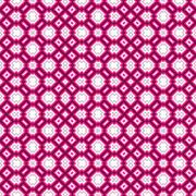 Geometrical pattern in pink and white Stock Illustration