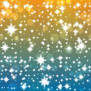 Groovy festive background with shining stars - stock illustration