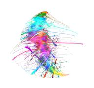 Stock Illustration of Iridescent colored splash texture