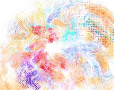 Mixed media texture, grunge halftone background - stock illustration