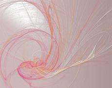 Romantic line art painting in pink spectrum - stock illustration