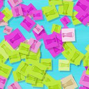 Scattered glasses of beer motif in showy colors Stock Illustration