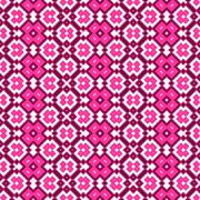 Seamless geometric pattern in pink spectrum - stock illustration