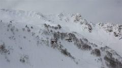 Panorama of Rosa Khutor Alpine Resort Stock Footage