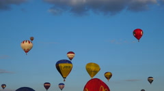 Flying hot air balloons 10 - Many balloons in blue sky 2 Stock Footage
