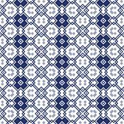 Seamless ornamental pattern in blue Stock Illustration
