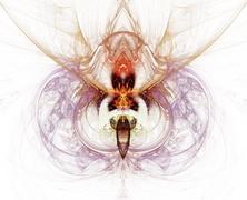 Graceful line art background, digital artwork - stock illustration