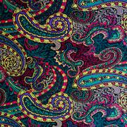 Texture fabric paisley and floral Stock Photos