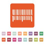 Scan the bar code icon. Barcode scanning symbol. Flat Stock Illustration