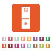 The icebox icon. Fridge and refrigerator symbol. Flat - stock illustration