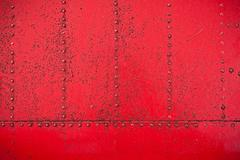 Red rivet background - stock photo