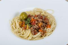 Pasta bolognese - stock photo