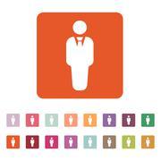 The business man icon. Avatar and user, men, gentleman symbol. Flat - stock illustration