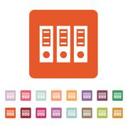 The archive folder icon. Document and data, portfolio, office symbol. Flat Stock Illustration