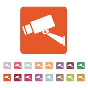 The cctv icon. Camera and surveillance, security, observation symbol. Flat Stock Illustration