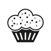 The muffin icon. Dessert and baked, cake, bakery symbol. Flat - stock illustration