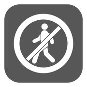 The no entry icon. Disallowed and danger, warning symbol. Flat - stock illustration