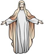 Virgin Mary - stock illustration