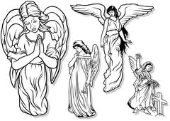 Angel Set - stock illustration