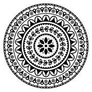 Stock Illustration of Mandala, Indian inspired round geometric pattern