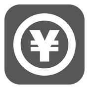 The yen icon. Cash and money, wealth, payment symbol. Flat Stock Illustration